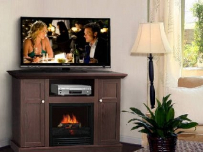 Small Corner Electric Fireplace Tv Stand Modern Cabinet Colors Home Furniture 25