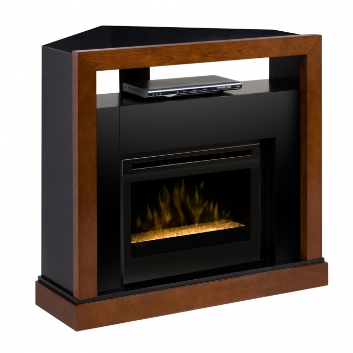 Small Corner Electric Fireplace Tv Stand Tanner Corner Glass GDS25G 5309WN 10