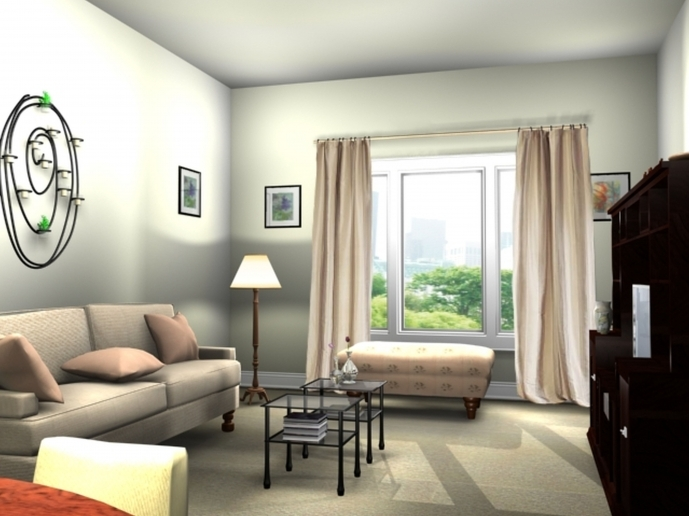Decoration Ideas For Small Living Rooms With Modern Interior Cream Fabric Sofa And Square Glass Table 43