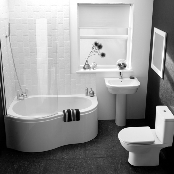 Small Bathroom Floor Plans With Dark Color And White Wall Also White Bathtub As Well As White Toilet Simple Design Ideas 76