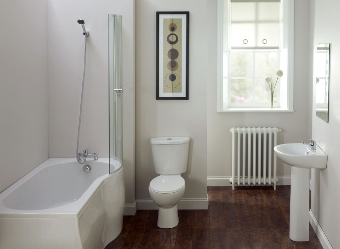 Small Bathroom With Bath And Shower Interior Bathroom White Fiberglass Corner Combo With Glass Room Divider 9832