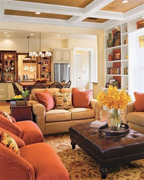 Small Family Room Decorating Ideas With Warm Color Paint Living Room 96