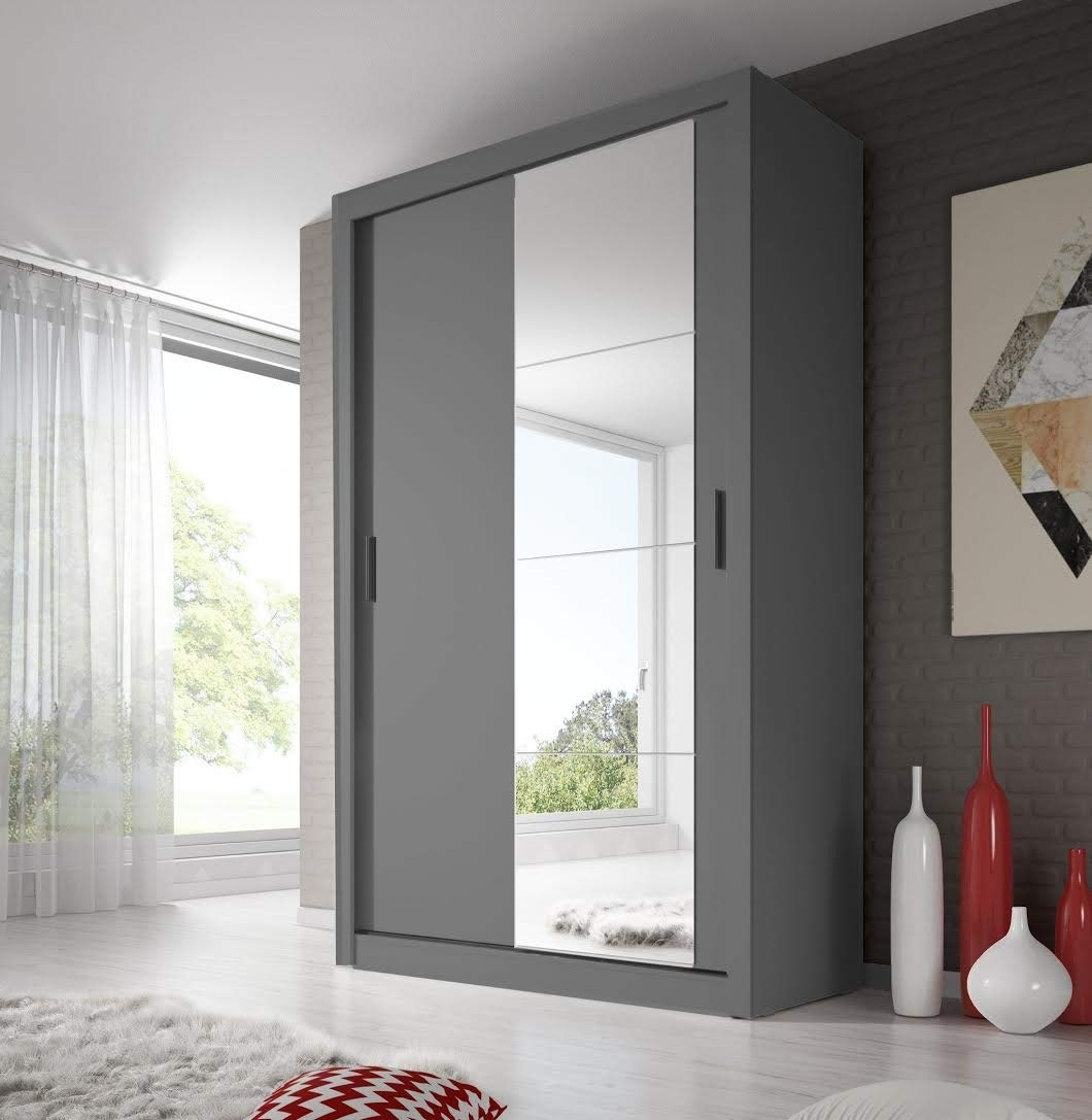 Arthauss Modern Bedroom Mirror Sliding Door Wardrobe throughout Bedroom Cupboard Sliding Doors